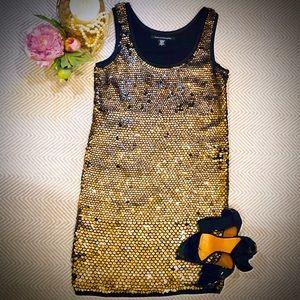 Diane von Furstenberg sequin shift dress